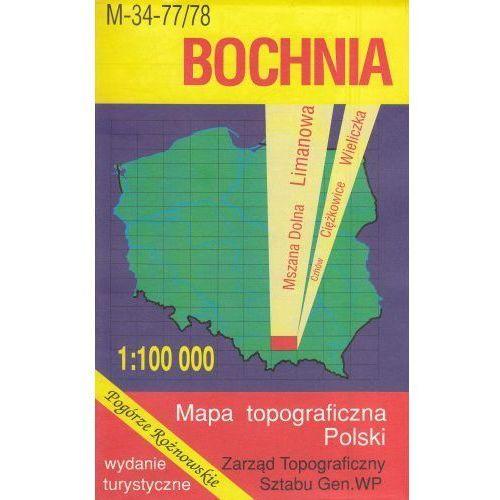 M-34-77/78 Bochnia. Mapa topograficzno-turystyczna 1:100 000 wyd. WZ-Kart, produkt marki Wojskowe Zakłady Kartograficzne