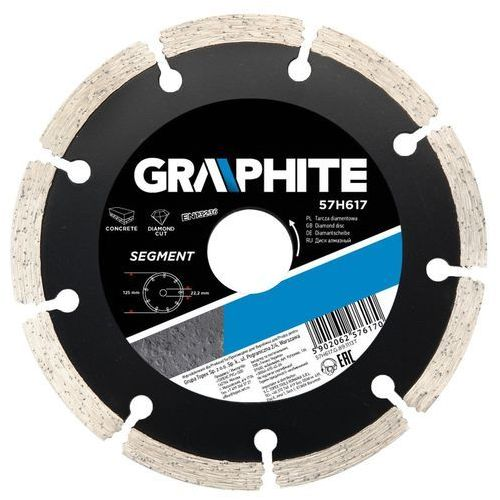 Tarcza do cięcia GRAPHITE 57H870 200 x 25.4 mm. diamentowa segmentowa ze sklepu Media Expert