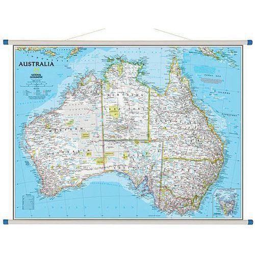 Australia. Mapa ścienna polityczna Classic 1:6,4 mln wyd. , produkt marki National Geographic