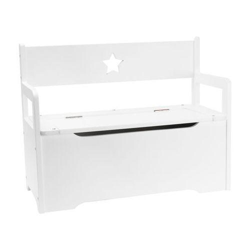 Ławeczka ze skrzynią J.I.P. Pew biała - z kategorii- pozostałe meble do sypialni