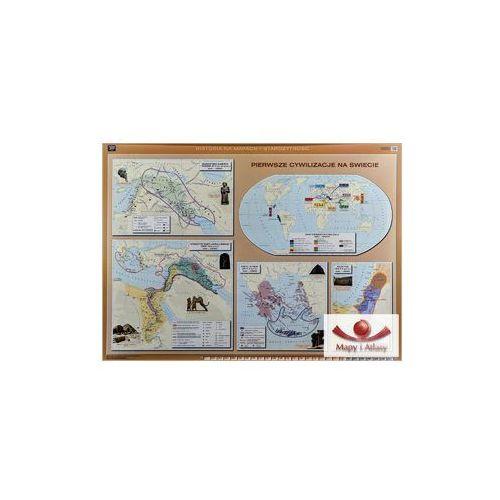 Pierwsze cywilizacje na świecie / Dalekiego Wschodu, Ameryki Środkowej i Południowej. Mapa ścienna. , produkt marki Nowa Era