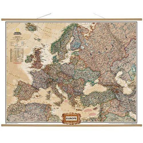 Europa. Mapa ścienna polityczna Executive 1:5,5 mln wyd. , produkt marki National Geographic