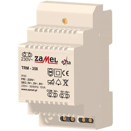 TRANSFORMATOR 230/3/5/8V AC 15VA ZAMEL (TRM-358) z kategorii Transformatory
