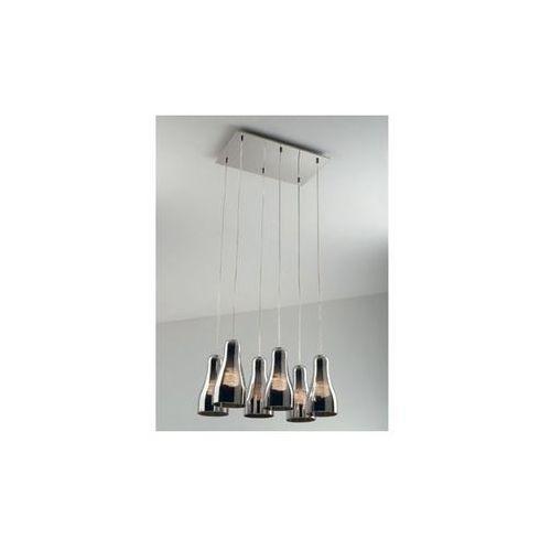 Nowoczesny SZKLANY żyrandol LAMPA wisząca NAD stół JAVA Maxlight P1397-06S chrom - sprawdź w MLAMP.pl - Rozświetlamy Wnętrza