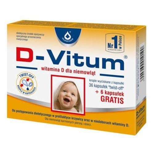 [kapsułki] D-Vitum Witamina D dla niemowląt 36 kaps + 6 kaps gratis kaps.twist-off 400 j.m. 42 kaps.