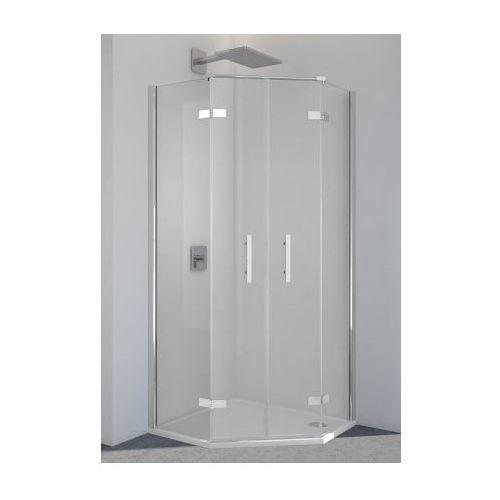 SANSWISS PUR drzwi dwuczęściowe do kabiny pentagonalnej PUR52SM11007 (drzwi prysznicowe)