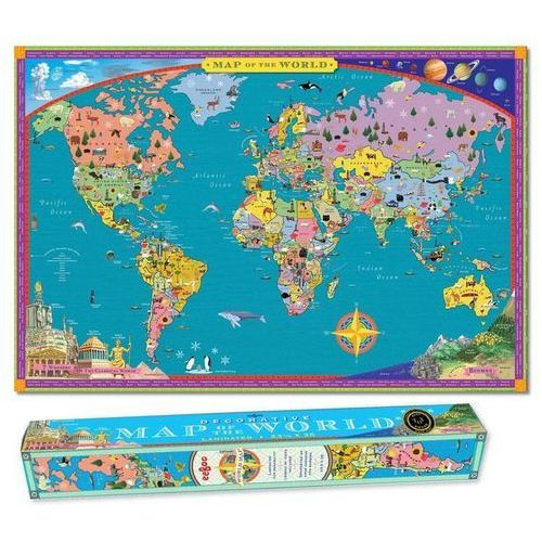 Mapa ścienna - World Map, produkt marki eeboo