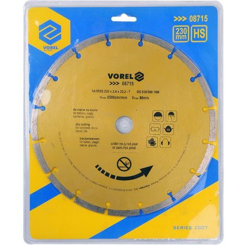 Tarcza diamentowa 230 mm segmentowa / SZYBKA WYSYŁKA / BEZPŁATNY ODBIÓR: WROCŁAW ze sklepu Toya24
