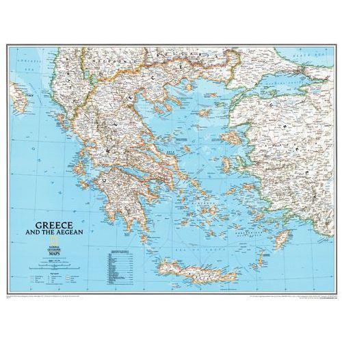 Grecja i Morze Egejskie. Mapa ścienna Classic magnetyczna w ramie 1:1 491 000 wyd. , produkt marki National Geographic