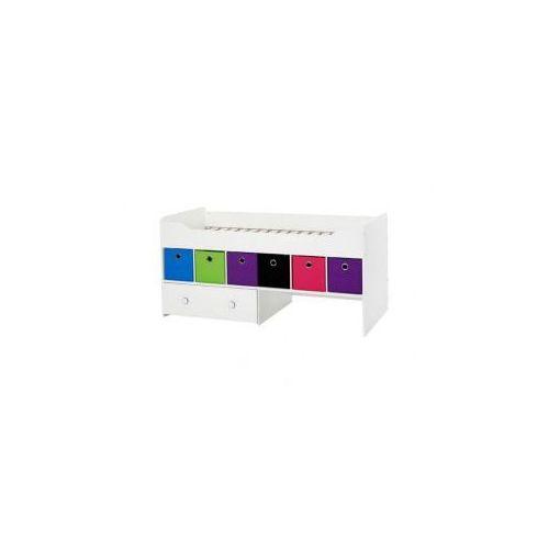 Łóżko dziecięce z półkami -  - Combee białe, marki Tvilum do zakupu w DecoMania.pl