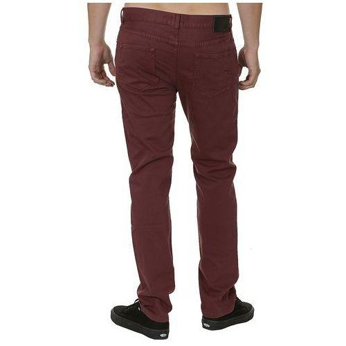 jeansy DC Skinny Overdyed - RSP0/Bordeaux - produkt z kategorii- spodnie męskie