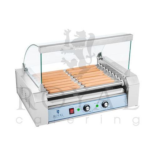 Grill rolkowy z pokrywą - 9 rolek, produkt marki Royal Catering