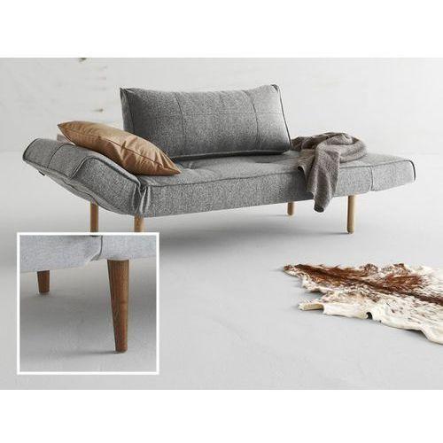Sofa Zeal szara 565 nogi ciemne drewno  740021565-2-740021-3, INNOVATION iStyle