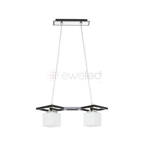 VERO lampa wisząca 2 x 60W E27 BIAŁY / WENGE - sprawdź w EWELED.pl