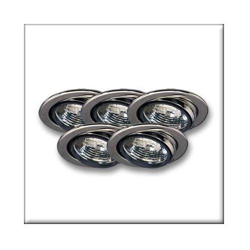 Paulmann Wysokogat. Oprawy wbudowywane wychylne, 5 szt., chrom, 5x20W ( P98456 ) z kategorii oświetlenie