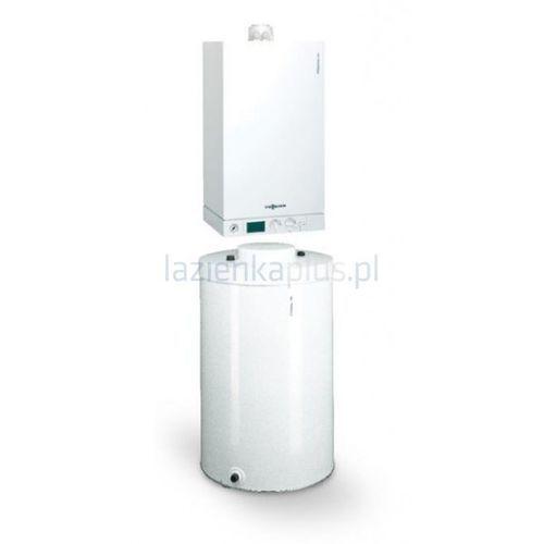 Kocioł gazowy jednofunkcyjny kondensacyjny gz-50 6,5-26 kw vitodens 100-w + zasobnik 100 l vitocell 100-w + czujnik zasobnika  b1ha045 od producenta Viessmann