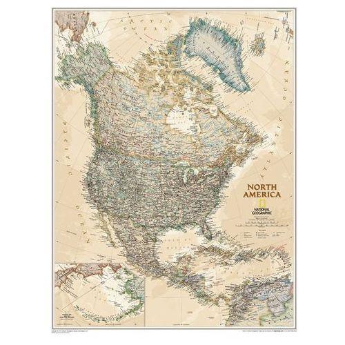 Ameryka Północna. Mapa ścienna polityczna Executive magnetyczna w ramie 60 x 77 cm wyd. , produkt marki National Geographic