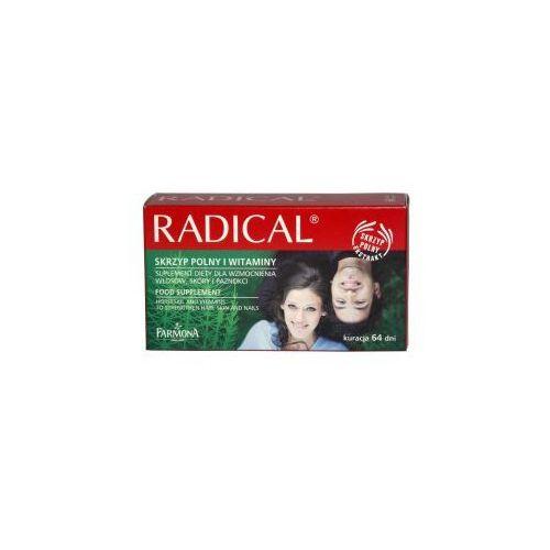 Produkt z kategorii- pozostałe kosmetyki do włosów - Radical Preparat wzmacniający włosy, skórę i paznokcie 64x200mg FARMONA