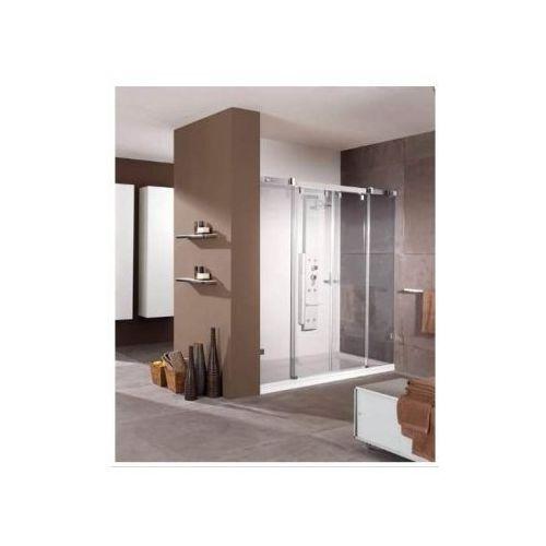 HUPPE VISTA PURE bezramowa Drzwi suwane 2-częściowe ze stałymi segmentami do wnęki VR0029 (drzwi prysznico