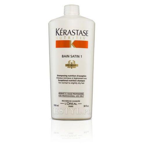 Kerastase Bain Satin 1 - Kąpiel odżywcza do włosów lekko suchych, uwrażliwionych 1000 ml - produkt z kategorii- odżywki do włosów
