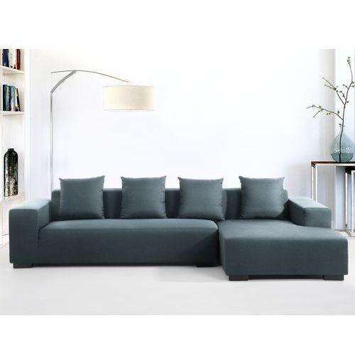 Sofa ciemnoniebieska - sofa narozna L - tapicerowana - LUNGO, Beliani
