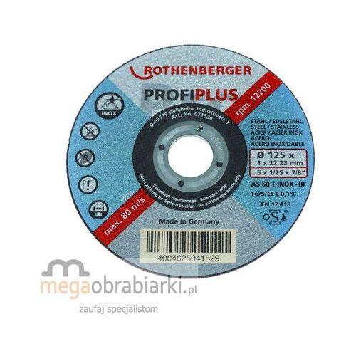 Oferta ROTHENBERGER Tarcza tnąca INOX INOX Profi Plus 125x1 RATY 0,5% NA CAŁY ASORTYMENT DZWOŃ 77 415 31 82