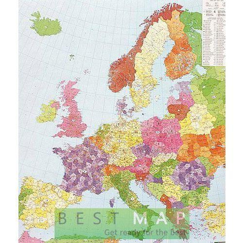 Europa. Mapa ścienna kodów pocztowych w ramie 1:3,7 mln wyd. , produkt marki Freytag&Berndt