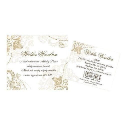 Etykiety samoprzylepne dwustronne na wódkę DE LUXE 0,5l / 50 kpl (galanteria ślubna)