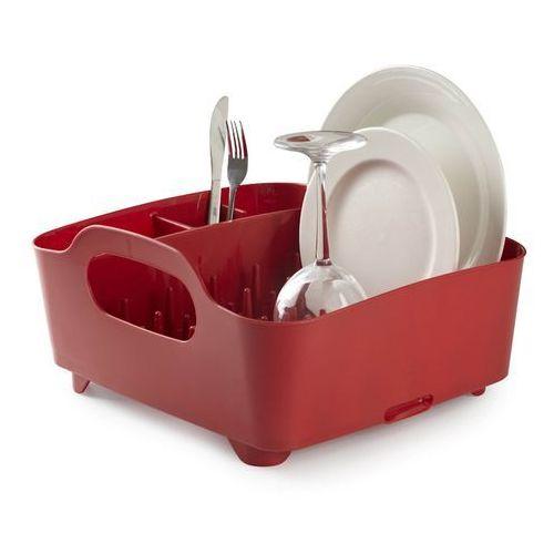Produkt z kategorii- suszarki do naczyń - Ociekacz do naczyń Umbra Tub czerwony