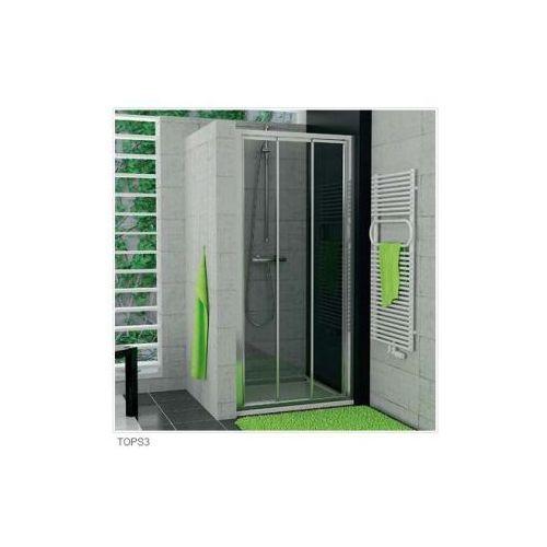 SANSWISS TOP LINE Drzwi przesuwane trzyczęściowe TOPS3 (drzwi prysznicowe)