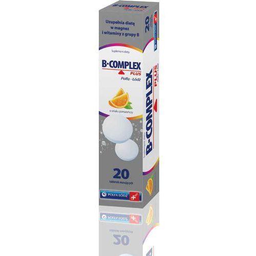 B-complex Plus tabletki musujące o smaku pomarańczy 20 sztuk, postać leku: tabletki
