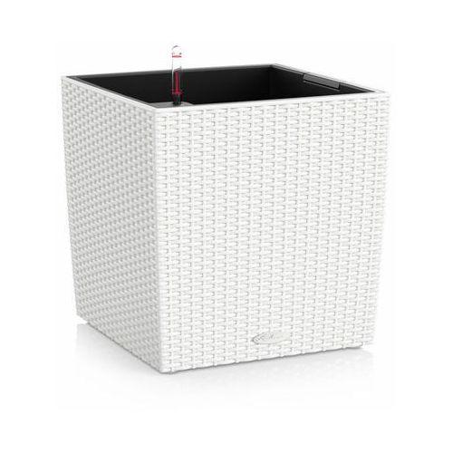 Donica  CUBE COTTAGE 2012 - biała - 50 cm - all inclusive - biały, produkt marki Lechuza