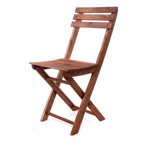 Happy Green Składane krzesło ogrodowe - akacja ze sklepu Mall.pl
