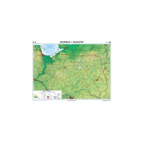 Warmia i Mazury. Mapa regionalna ogólnogeograficzna/krajobrazowa. Mapa ścienna., produkt marki Nowa Era