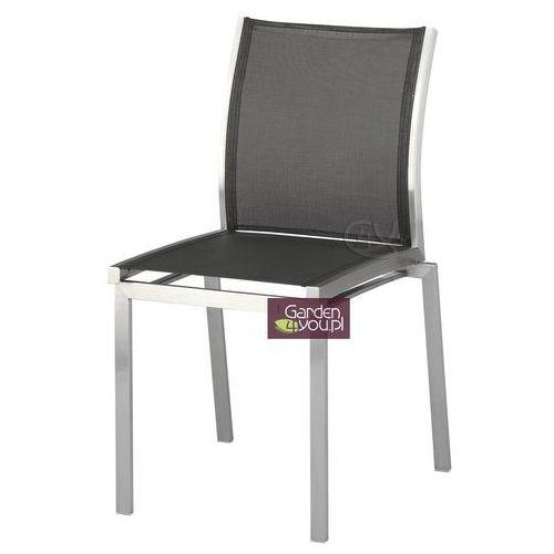 Krzesło ze stali szlachetnej w kolorze srebrnym Avanti ze sklepu Garden4you.pl