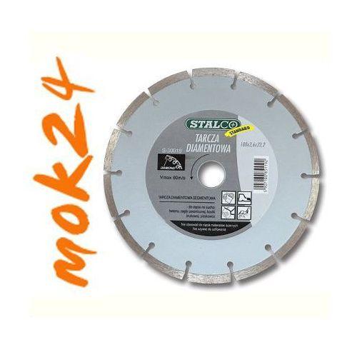 Tarcza diamentowa cięcie 115x22,2mm segment 7,6mm sucho/mokro STANDARD S-30011 STALCO ze sklepu mok24.pl