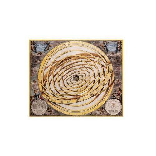 Mapa orbit planet otaczających Ziemię wg Ptolemeusza, A. Cellarius, 1660 r., produkt marki Golden Maps Publishing