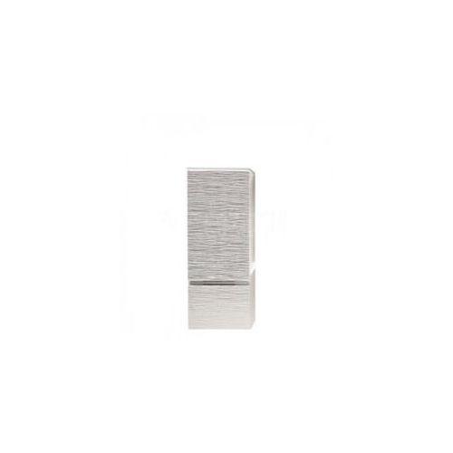 Szafka Antado FSM słupek 89 cm biała w srebrne paski prawa FSM-394GTR-47/43 - produkt z kategorii- regały �