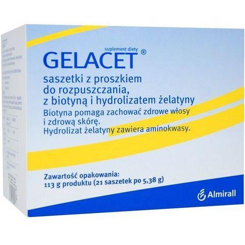 Gelacet Saszetki z żelatyną i biotyną 21sa, postać leku: proszek