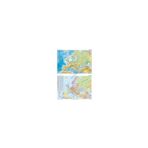 Europa mapa ścienna dwustronna polityczno/fizyczna 1:11 000 000 od Cartographica