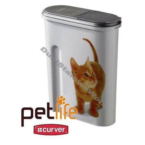 CURVER PETLIFE 1,5kg 4,5L pojemnik na karmę pudełko Kotek - produkt dostępny w organizery.eu