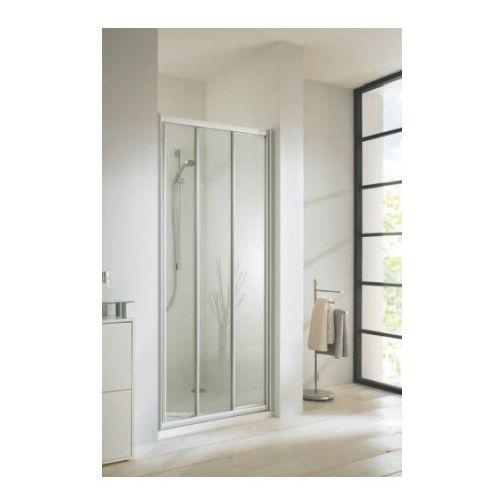 HUPPE CLASSICS ELEGANCE Drzwi przesuwne 80x190, srebrny mat, szkło transp. 501012087321 (drzwi prysznicowe)
