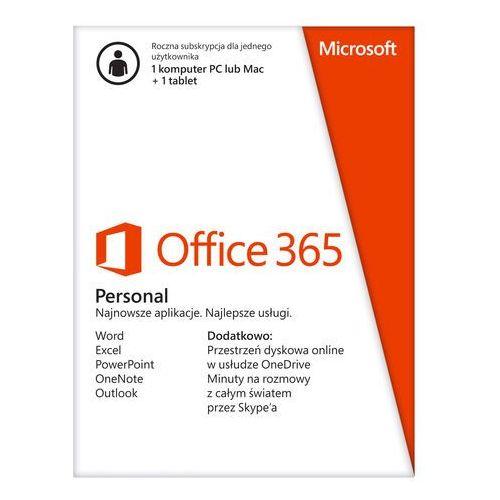 Subskrypcja Office 365 Personal 32/64 Bit PL 1 rok z kategorii Programy biurowe i narzędziowe