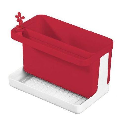 Pojemnik na akcesoria do zmywania plastikowy KOZIOL PARK IT CZERWONY - rabat 10 zł na pierwsze zakupy! - produkt z kategorii- suszarki do naczyń