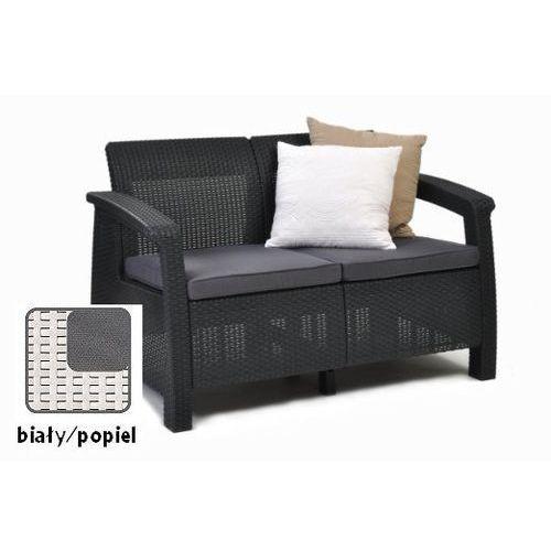Meble ogrodowe sofa 2-osobowa CORFU biała