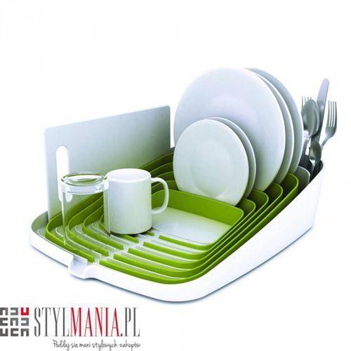 Suszarka na naczynia JJ Arena biało-zielona - produkt z kategorii- suszarki do naczyń
