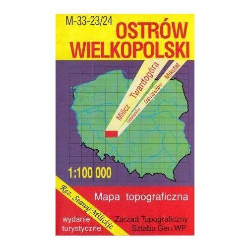 M-33-23/24 Ostrów Wielkopolski. Mapa topograficzno-turystyczna 1:100 000 wyd. WZ-Kart, produkt marki Wojskowe Zakłady Kartograficzne