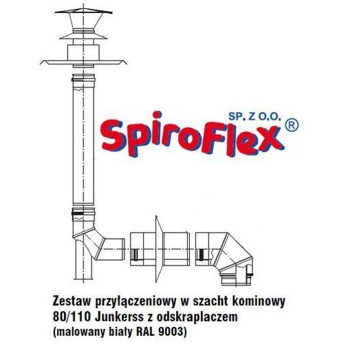 Oferta Spiroflex Biały Junkers 80/110 zestaw w szacht kominowy z odskraplaczem do kotłów z zamkniętą komorą spalania SX-TD80/110PAKSZJO-B z kat.: ogrzewanie