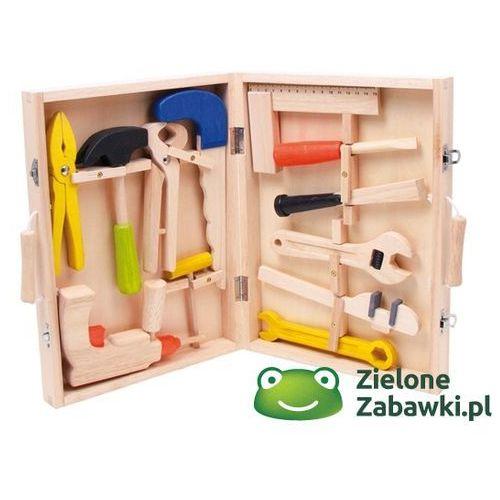 Walizka, skrzynka z narzędziami dla dzieci, BJ245-, Bigjigs Toys z ZieloneZabawki.pl