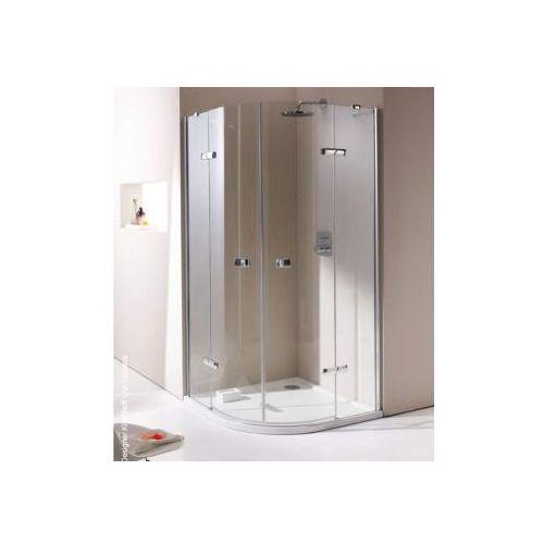 HUPPE ENJOY ELEGANCE 1/4 koła Drzwi skrzydłowe ze stałymi segmentami, 2-częściowe 671010 (drzwi prysznico